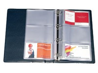 Sleeves for business cards, 3 compartments