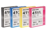 Pack of 4 cartridges Ricoh GC41 black + colours