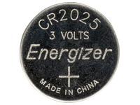Blisterpackung von 2 Lithium-Batterien Energizer CR2025.