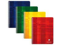 Notebook Clairefontaine spiral binding 180 pages 16,5 x 21 cm 5 x 5 assorted colors