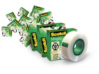 Pack de 10 + 4 Rubans adhésif Scotch Magic invisible 33 m