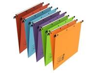 Suspension files Ultimate by L'Oblique in kraft assorted colors for drawers 33 cm normal bottom
