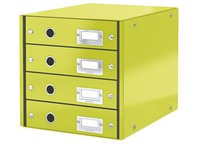 Classification module Leitz Click&Store Wow 4 drawers anise green