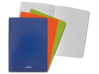 Notebook A4 Aurora with laminated cover lined, 72 pages