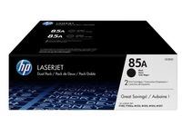 Pack 2 toners HP zwart CE285AD