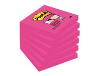 Block 90 Blatt Super Sticky Post-it gefärbt 76 x 76 mm Fuchsie