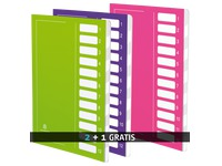 Pack 2 sorting folders Extendos 12 division + 1 for free