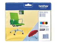 Brother LC229XL pack 4 cartridges zwart + kleur voor inkjetprinter