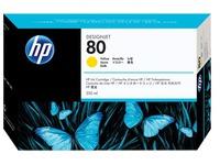 HP 80 - geel - origineel - inktcartridge (C4848A)