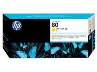 HP 80 - geel - printkop met reiniger (C4823A)