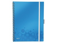 Spiral notebook Be Mobile Leitz A4 - white lined - 160 pages - turquoise