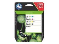HP 364XL pack met 2 zwarte en 1 kleuren cartridges hoge capaciteit