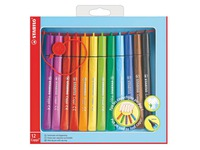 Stifte Stabilo Cappi verschiedenen Farben medium Punkt - Pack von 12