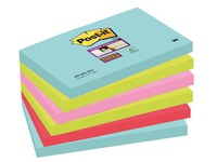 Notes couleurs Miami Super Sticky Post-it 76 x 127 mm - Bloc de 90 feuilles