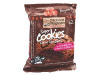 Super cookies met gesmolten kern volledig chocolade Michel et Augustin - Doos van 14 koekjes
