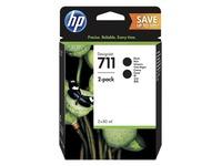 HP 711 - 2 - hoge capaciteit - zwart - origineel - DesignJet - inktcartridge (P2V31A)