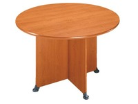 Round table Quarta 120 cm plate alder base full crossed