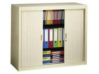 Tambour cabinet, H 100 x W 120 cm - beige