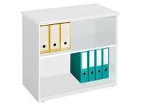 Hohe Bücherschrank Holz H 73 x B 80 cm Arko