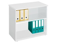 Bibliothèque basse bois H 73 x L 80 cm Arko