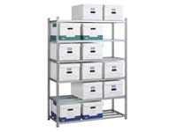 Office rack for archive boxes 176 x 128 x 50 cm