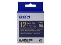 Epson tape 12 mm, goud op marineblauw