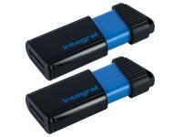 Pack 2 USB sticks Integral Pulse 16 Gb