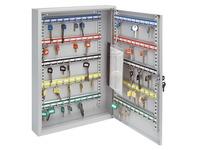 Armoire 60 clés fermeture à clé gris clair