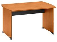 Bureaux droits Quarta Plus L 120 x P 80 cm aulne piétement plein bois