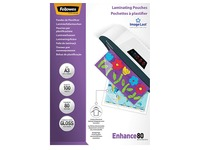 Fellowes Laminating Pouches 2 x 80 µ -100 Sheets