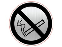 Plaque with pictogram Ø 8 cm 'Forbidden to smoke' Durable