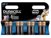 Alcalinebatterijen AA LR6 Duracell Ultra Power Star Wars - blister van 8