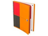 Spiraalschrift Oxford Activebook B5 17,6 x 25 cm - met 4 gaten - wit gelinieerd papier - 160 vellen
