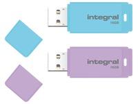 1 USB key Integral 16 GB purple + 1 USB key 16 GB blue for free