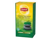 Doos 25 zakjes Lipton groene thee munt