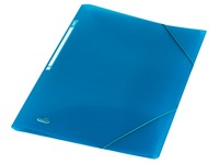 Elba Urban elastomap, voor ft A4, uit PP, transparent blauw