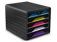Klasseermodule Cep Smoove Gloss - zwarte box met 6 meerkleurige laden