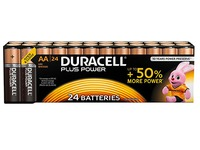 Alkaline battery AA - 24 pieces LR6 Duracell Plus Power