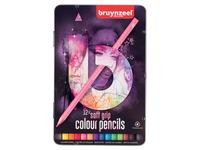 Crayon de couleur Bruynzeel Teens Soft boîte rose 12 pièces assorti