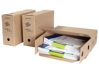 Loeff's boîte d'archivage Jumbo box, carton ondulé, marron, paquet de 8 pièces