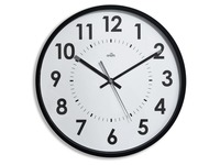 Wall clock colored D 40 cm - quartz - black