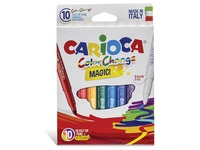 EN_Rotulador carioca cambia color tinta magica caja de 10 unidades colores surtidos