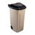 beige afvalcontainer met zwart deksel