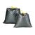 grijze vuilniszakken met stropsluiting