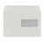 witte enveloppen omslag met venster witte omslag